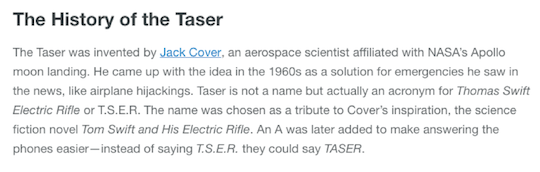 The History of the Taser